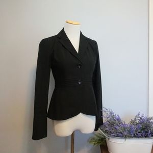 Banana Republic Factory Black Fitted Blazer XS EUC